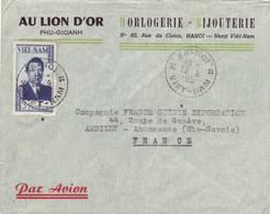 VIET NAM ENVELOPPE ENTETE LION D'OR HANOI 1955 - Viêt-Nam