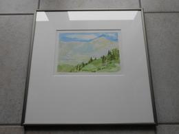 "Aquarell CH ""Blick Ins Tal"" GR - 400,00 € (BAR/100% WIR) - Watercolours"