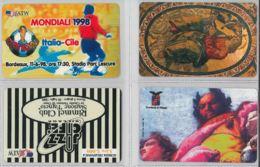 LOTTO 4 PREPAID PHONE CARD ATW AEREI (DX20.1 - Italie