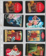 LOTTO 8 PREPAID PHONE CARD COCACOLA (DX46 - Italy