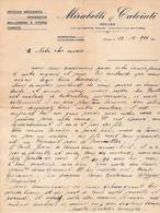 ITALIE NOVARA Piémont COURRIER 1933  Officina Mecanica Riparazioni MIRABELLI & CALCIATI A61 - Italia