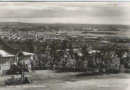 Utsikt Fra Holmenkollen.  Oslo Norway -Sent To Denmark 1945    # 05923 - Norway