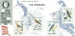 CM-CP008-Carte Expo-Exhibition Card-Messe Karte #France-1984#NAPOSTA -Hamburg (Germany) Rapaces,birds Of Prey,Greifvögel - Maximumkaarten