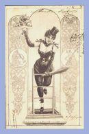 CPA - Fantaisie Charme - 869. Femme Porte-bonheur - Fleurs Et Verges - Women