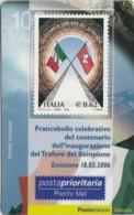 TESSERA FILATELICA  TRAFORO SEMPIONE VALORE 0,62 ANNO 2006  (TF371 - 1946-.. République