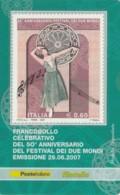 TESSERA FILATELICA  FESTIVAL DEI DUE MONDI VALORE 0,6 ANNO 2007  (TF376 - 1946-.. République