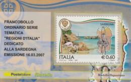 TESSERA FILATELICA  SARDEGNA VALORE 0,6 ANNO 2007  (TF381 - 1946-.. République