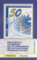 TESSERA FILATELICA  TRATTATI DI ROMA VALORE 0,6 ANNO 2007  (TF382 - 1946-.. République