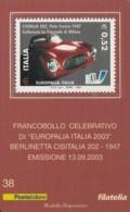 TESSERA FILATELICA  BERLINETTA CISITALIA 202 VALORE 0,52 ANNO 2003  (TF385 - 1946-.. République