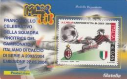 TESSERA FILATELICA  MILAN VALORE 0,45 ANNO 2004  (TF386 - 1946-.. République