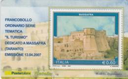 TESSERA FILATELICA  MASSAFRA VALORE 0,6 ANNO 2007  (TF388 - 1946-.. République