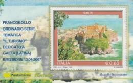 TESSERA FILATELICA  GAETA VALORE 0,6 ANNO 2007  (TF389 - 1946-.. République