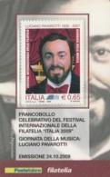 TESSERA FILATELICA  PAVAROTTI VALORE 0,65 ANNO 2009  (TF390 - 1946-.. République
