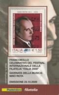 TESSERA FILATELICA  NINO ROTA VALORE 1,5 ANNO 2009  (TF391 - 1946-.. République