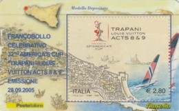 TESSERA FILATELICA  TRAPANI LOUIS VITTON CUP VALORE 2,8 ANNO 2005  (TF392 - 1946-.. République