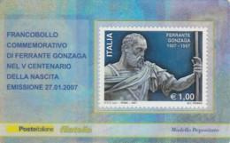 TESSERA FILATELICA  FERRANTE GONZAGA VALORE 1 ANNO 2007  (TF399 - 1946-.. République