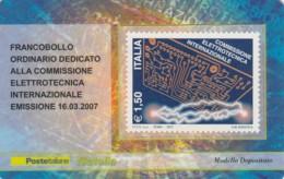 TESSERA FILATELICA  COMMISSIONE ELETTROTECNICA VALORE 1,5 ANNO 2007  (TF400 - 1946-.. République