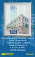 TESSERA FILATELICA  LICEO CAMPANELLA REGGIO CALABRIA VALORE 0,6 ANNO 2005  (TF401 - 1946-.. République