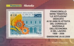 TESSERA FILATELICA  CNEL VALORE 1,5 ANNO 2008  (TF407 - 1946-.. République