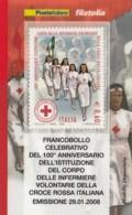 TESSERA FILATELICA  CROCE ROSSA VALORE 0,6 ANNO 2008  (TF409 - 1946-.. République