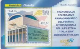 TESSERA FILATELICA  FESTIVAL INTERN. FILATELIA VALORE 0,6 ANNO 2008  (TF414 - 1946-.. République