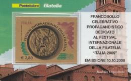 TESSERA FILATELICA  FESTIVAL INTERN. FILATELIA VALORE 2,8 ANNO 2008  (TF416 - 1946-.. République