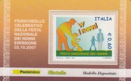 TESSERA FILATELICA  W I NONNI VALORE 0,6 ANNO 2007  (TF417 - 1946-.. République