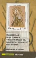 TESSERA FILATELICA  GINO SEVERINI VALORE 0,65 ANNO 2009  (TF421 - 1946-.. République
