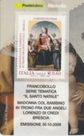 TESSERA FILATELICA  LORENZO DI CREDI VALORE 0,6 ANNO 2008  (TF422 - 1946-.. République