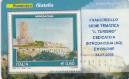 TESSERA FILATELICA  INTRODACQUA VALORE 0,6 ANNO 2008  (TF424 - 1946-.. République