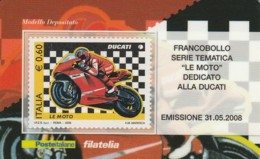 TESSERA FILATELICA  DUCATI VALORE 0,6 ANNO 2008  (TF425 - 1946-.. République