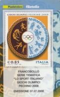 TESSERA FILATELICA  GIOCHI OLIMPICI PECHINO 2008 VALORE 0,85 ANNO 2008  (TF426 - 1946-.. République