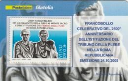 TESSERA FILATELICA  TRIBUNI DELLA PLEBE VALORE 0,6 ANNO 2008  (TF427 - 1946-.. République