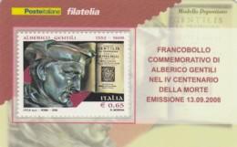 TESSERA FILATELICA  ALBERTO GENTILI VALORE 0,65 ANNO 2008  (TF432 - 1946-.. République