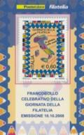 TESSERA FILATELICA  GIORNATA DELLA FILATELIA VALORE 0,6 ANNO 2008  (TF433 - 1946-.. République