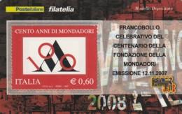 TESSERA FILATELICA  MONDADORI VALORE 0,6 ANNO 2007  (TF435 - 1946-.. République