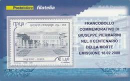 TESSERA FILATELICA  PIERMARINI VALORE 1,4 ANNO 2008  (TF436 - 1946-.. République