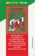 TESSERA FILATELICA  COSTITUZ.REPUBBLICA ITALIANA VALORE 0,6 ANNO 2008  (TF437 - 1946-.. République