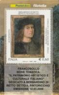 TESSERA FILATELICA  PINTORICCHIO VALORE 0,6 ANNO 2008  (TF442 - 1946-.. République
