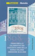 TESSERA FILATELICA  BORSA ITALIANA VALORE 0,65 ANNO 2008  (TF443 - 1946-.. République