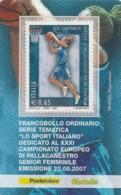 TESSERA FILATELICA  CAMP.PALLACANESTRO FEMM SENIOR VALORE 0,65 ANNO 2007  (TF451 - 1946-.. République
