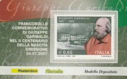 TESSERA FILATELICA  GARIBALDI  VALORE 0,85 ANNO 2007  (TF452 - 1946-.. République
