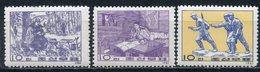 Y85 DPRK (NORTH KOREA) 1961 332-334 Revolutionary Art. Military. War - Militares