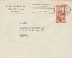 LETTERA 1952 L.25 TIMBRO CONSUMATE ARANCE LIMONI (LN182 - 1946-.. Republiek