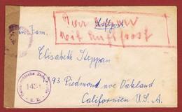Luftpostbrief Versand Nach U S A 1948? 4.60 Sch; 2 Scan - 1945-60 Lettres