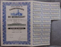 BELGICA ACCION COMPAÑIA CARBONES DE BERNISSART 1944 COAL MINNING - Mineral