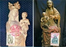 CM-Carte Maximum  Card # France-1983 # Art Relgieux # Sculpture # Croix Rouge # Vierge Et L´Enfant # Enghien (2CM) - Maximumkaarten