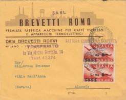 LETTERA CIRCA 1947 CON 2X6 SS POSTA AEREA  (LN568 - 6. 1946-.. República
