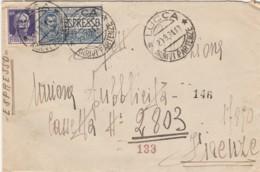 ESPRESSO 1931 CON CENT.50+1,25 L. TIMBRO LUCCA (LN584 - Marcofilía