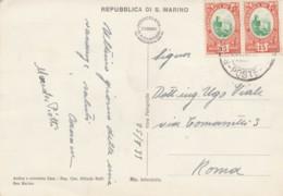 CARTOLINA 1939 2X15 CENT SAN MARINO (LN614 - Saint-Marin